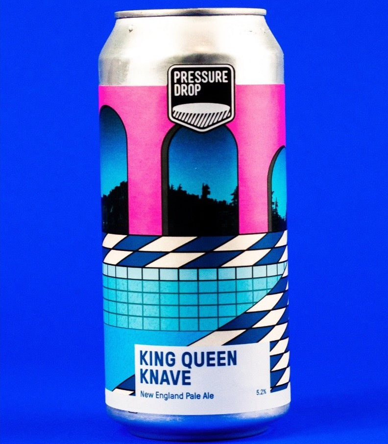 Pressure Drop, King Queen Knave, New England Pale (440ml, 5.2%)