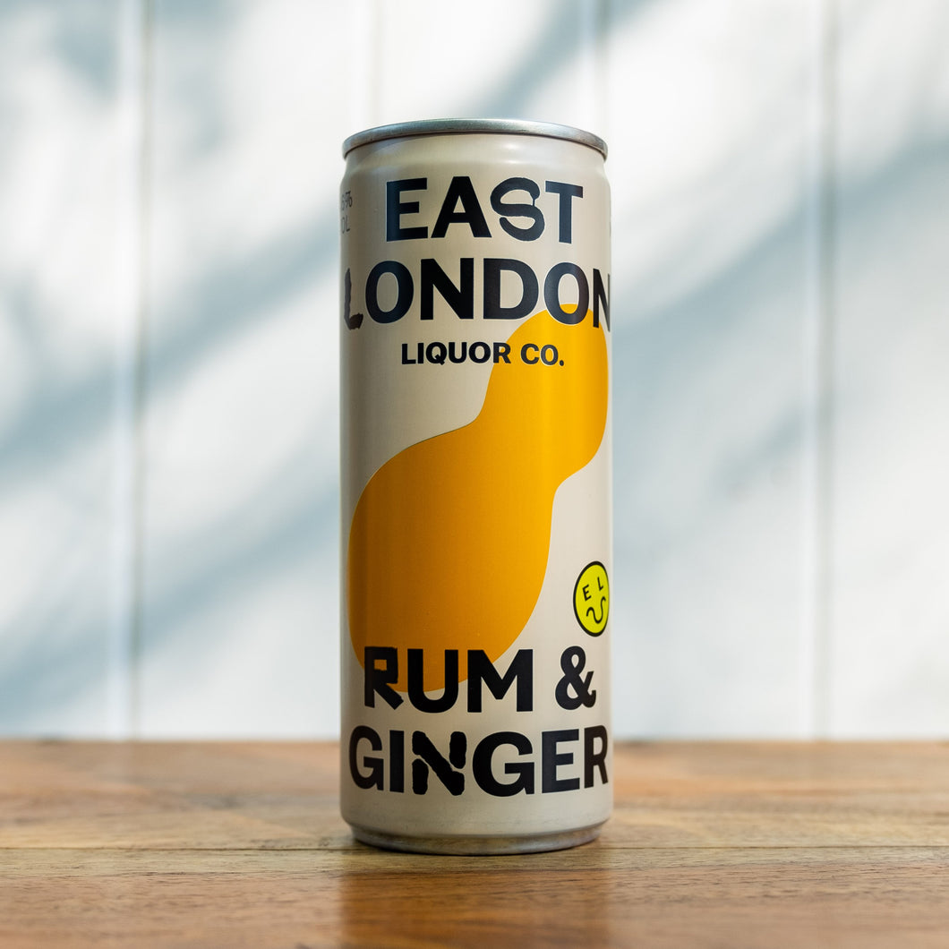 East London Liquor Company - Rum & Ginger (250ml, 4.6%)