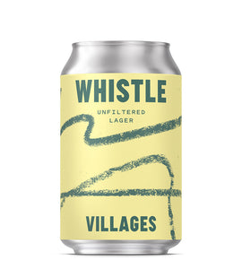 Villages, WHISTLE, Unfiltered Lager (330ml, 4.4%)