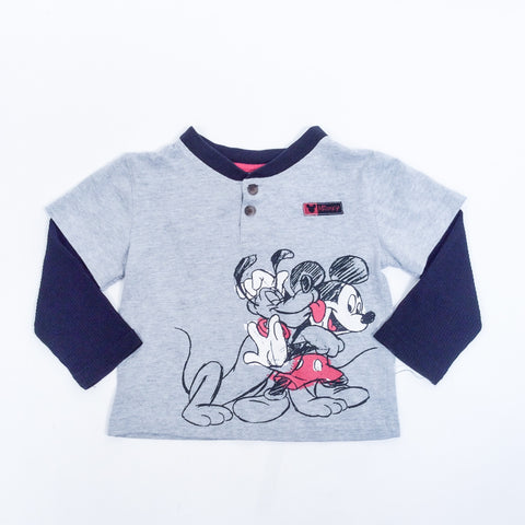 Disney Baby Boys Long Sleeve Top Sz 18 mo