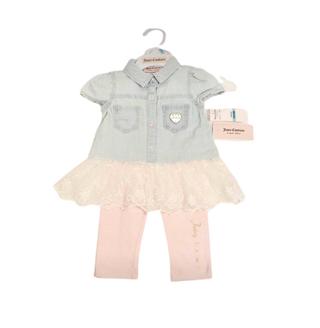 Baby girls Juicy Couture Outift 9MO NWT