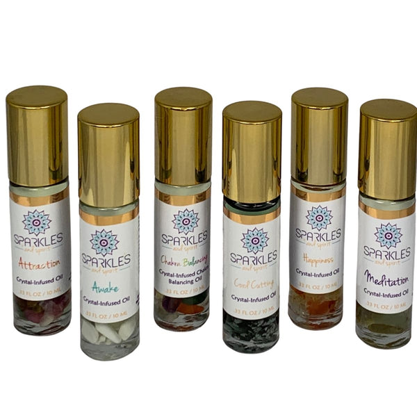 Set of 6 Crystal-Infused Oils