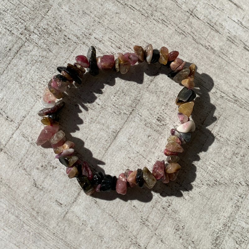 Mixed Tourmaline chip bracelet