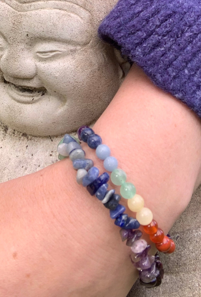 Chakra Chip Bracelet and 6mm Bracelet