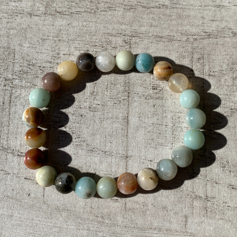 Amazonite (mixed) bracelet 8mm