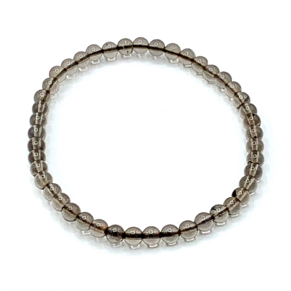Smokey Quartz 4mm bracelet