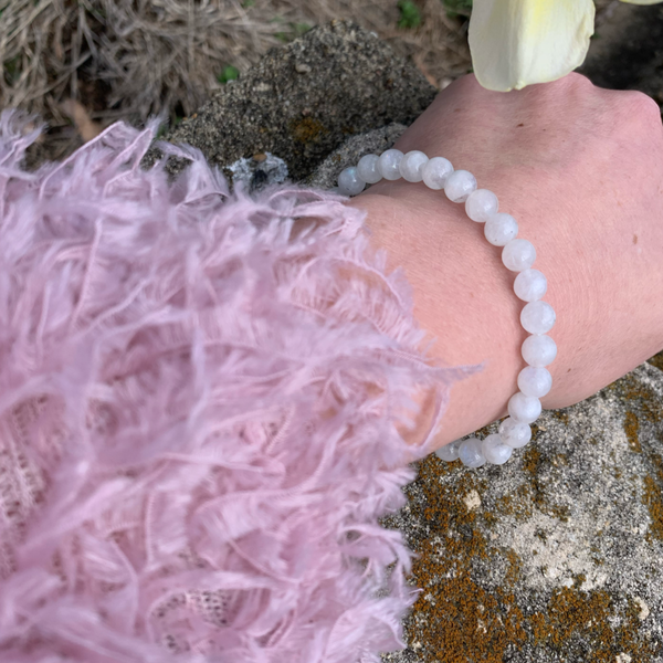 Rainbow Moonstone 6-7mm Bracelet