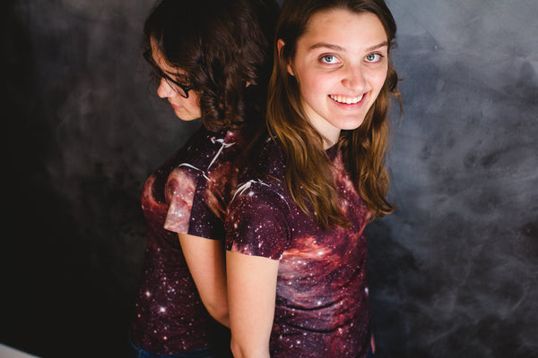 White Spots on Tarantula Nebula Galaxy Shirt 2