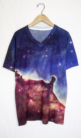 Carina Divided Galaxy Shirt, Front