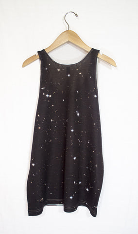 Galactic Clusters Galaxy Tank Top, Back