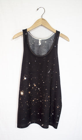 Galactic Clusters Galaxy Tank Top, Front