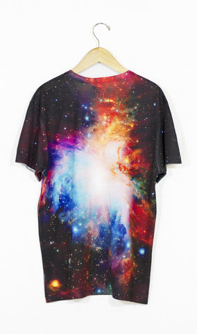 Infrared Orion Nebula Galaxy Shirt, Back