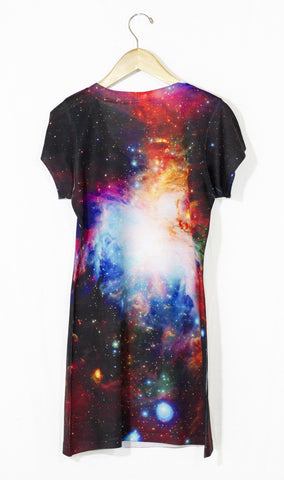 Infrared Orion Nebula Galaxy Dress, Back