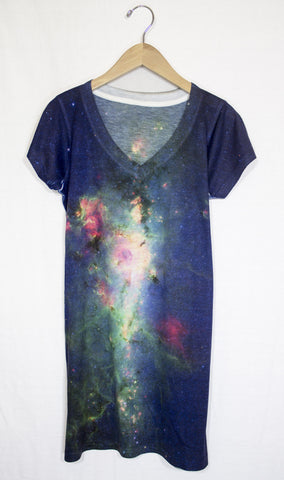 Milky Way Galaxy Dress, Front