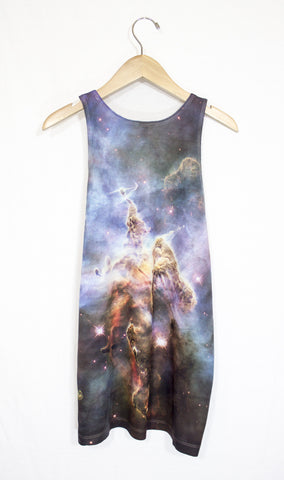 Mystic Mountain Galaxy Tank Top, Back
