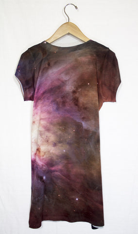 Orion Nebula Galaxy Dress, Back