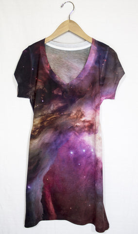 Orion Nebula Galaxy Dress, Front