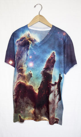 Pillars of Creation Galaxy Shirt, Front