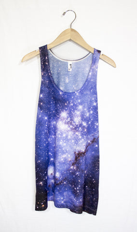 Small Magellanic Cloud Galaxy Tank Top, Front