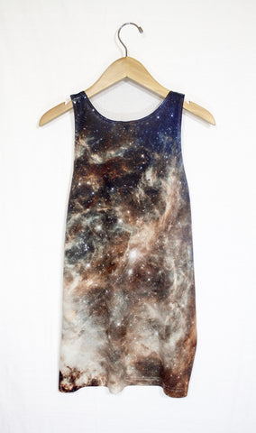 Tarantula Nebula Galaxy Tank Top, Back