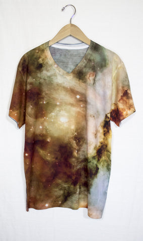 Yellow Carina Nebula Galaxy Shirt, Front