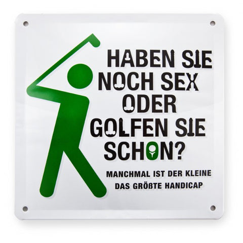 "METALLSCHILD ""GOLF"""
