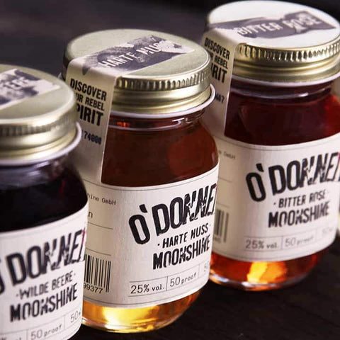 "Mini O'Donnell Moonshine ""Harte Nuss"" – Likör mit 25% vol. 50ml"