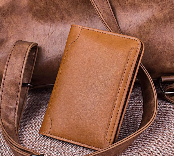 Business Passport Covers Holder Travel Accessories Men ID Bank Card Leather Wallet Case