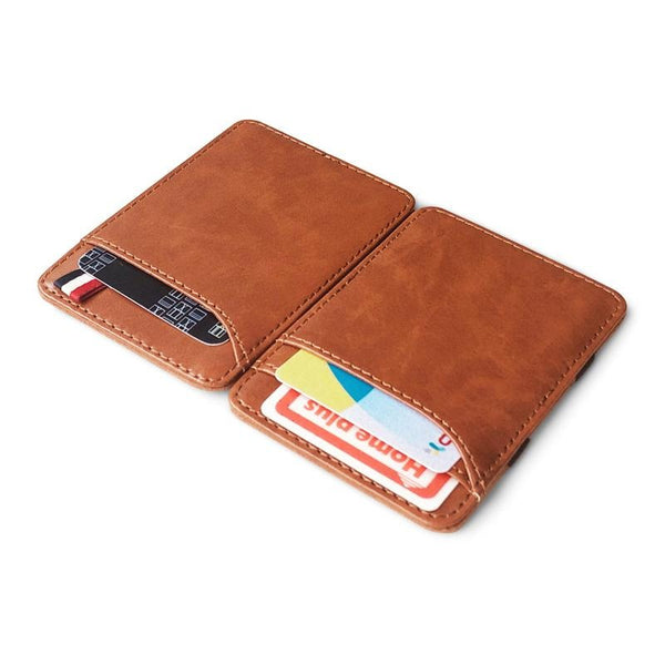 Slim card holder Brown