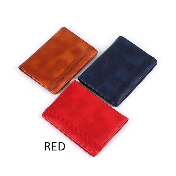 Business Passport Covers Holder Travel Accessories Men ID Bank Card PU Leather Wallet Case