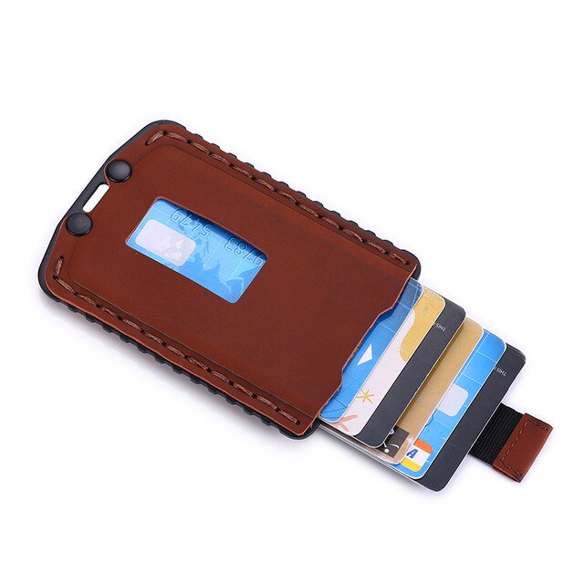 Slim card holder Coffee
