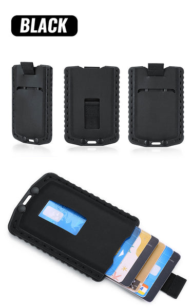 Slim card holder Black