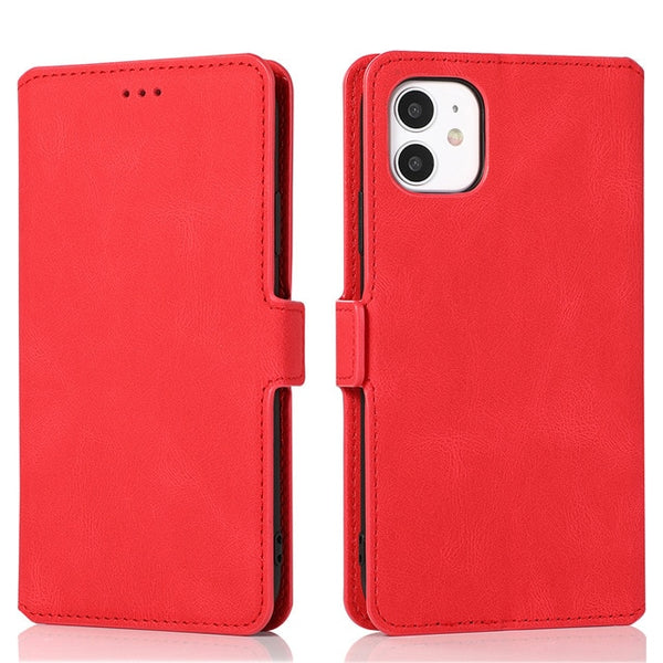Leather Flip Wallet Case For iPhone 12 Mini 11 Pro XS MAX X XR 8 7 6s 6 Plus 5 5s SE 2020 Card Stand Slot Phone Cover