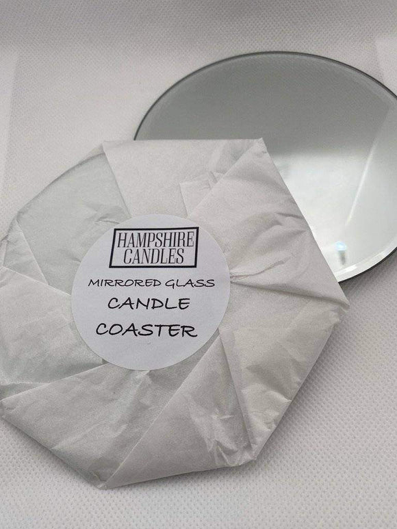 Mirrored glass candle coaster
