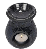 Black Crackle Wax Burner