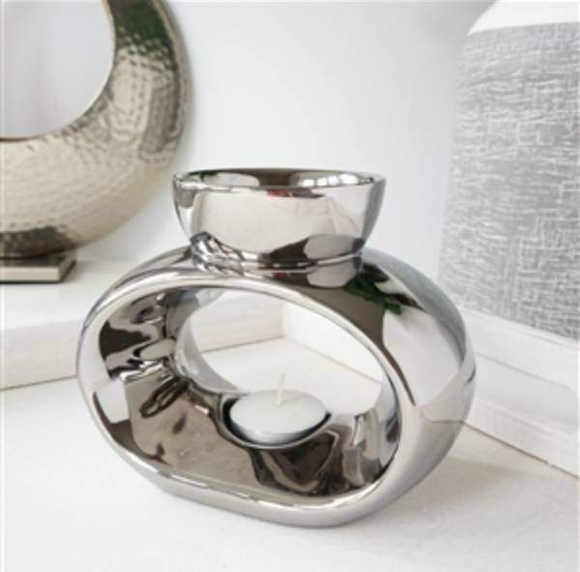 Elegance Chrome Wax Burner