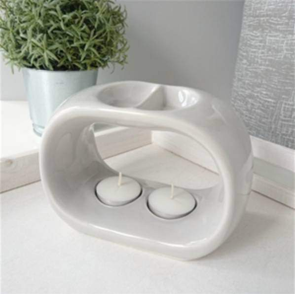 light grey duo bowl wax melter