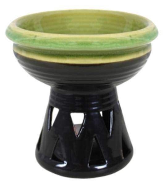 green deep bowl wax melter