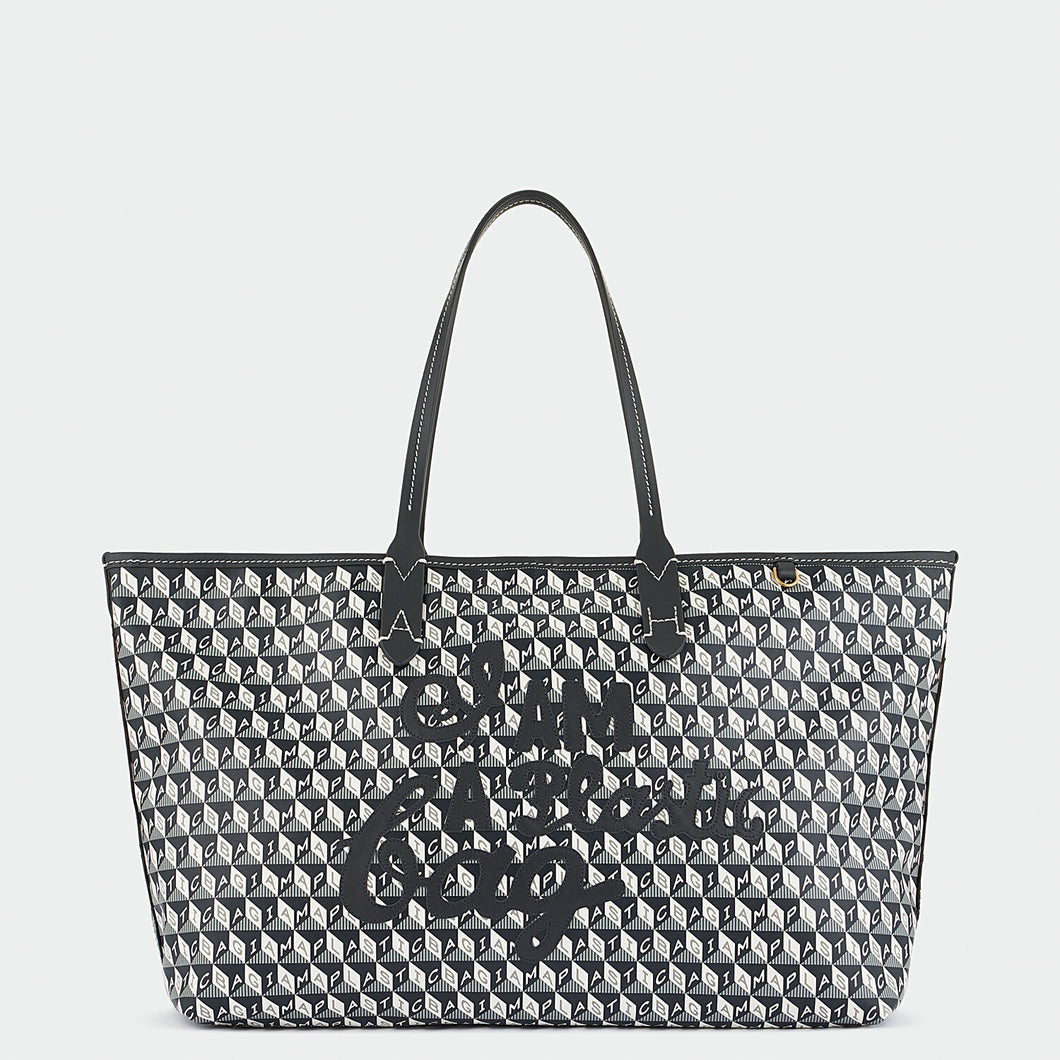 I Am A Plastic Bag Small Motif Tote Charcoal