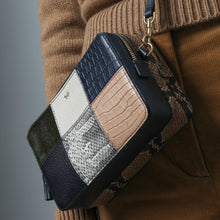 Load image into Gallery viewer, Patchwork Double Zip Cross-Body Marine