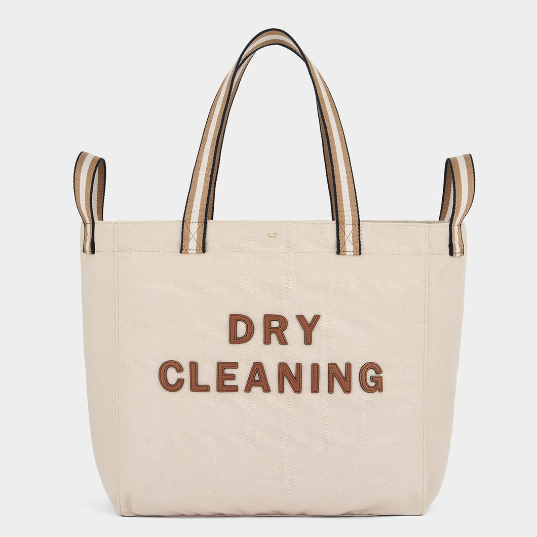 Dry Cleaning Household Tote Recycled Canvas in Natural