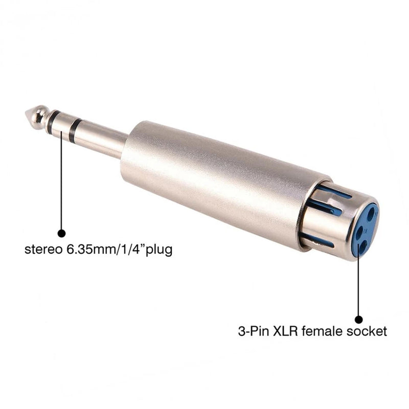 Audio adapter 6.35mm vo XLR cannon