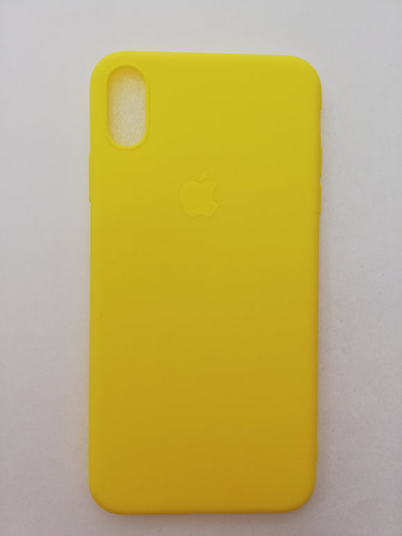 Maska za telefon Iphone Xs Max - Guma Yellow