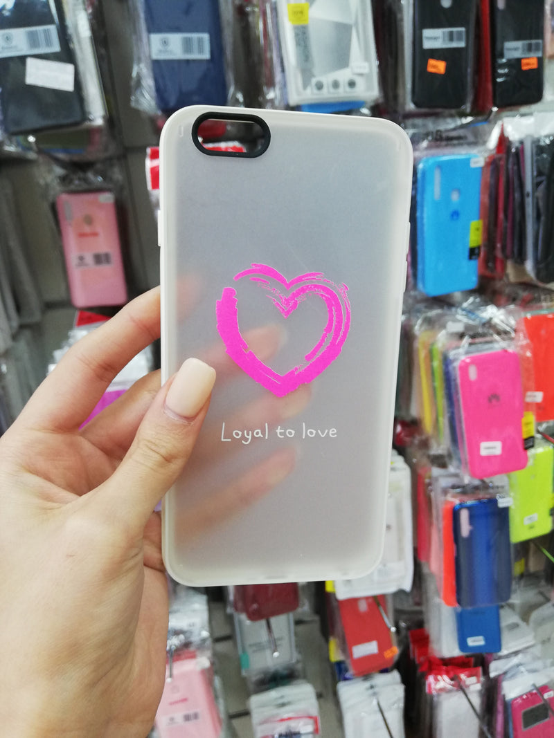 Maska za telefon Iphone 6plus - Milkey White Love