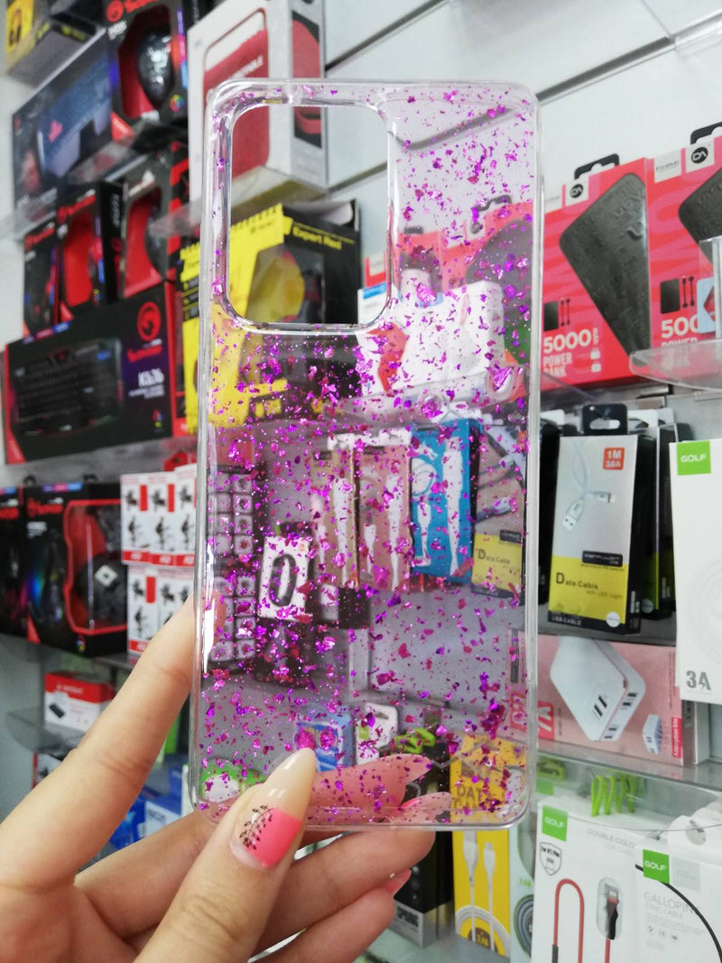 Maska za telefon Samsung S20 Ultra - Clear Purple Gold