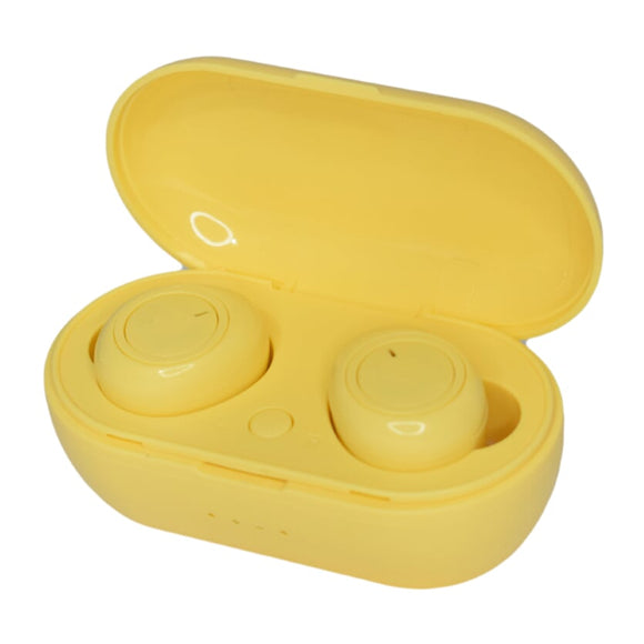Wireless slusalki - Truly Earphone P1 TWS - Yellow