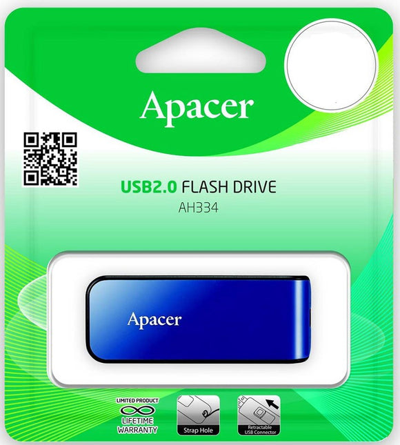 USB 16GB - Apacer AH334 Blue