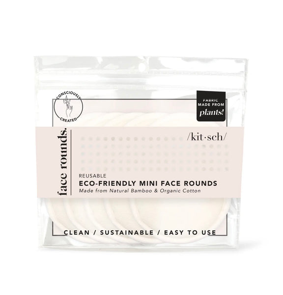 Eco - Friendly Reusable Mini Face Rounds