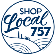 Shop Local 757 Window Decal