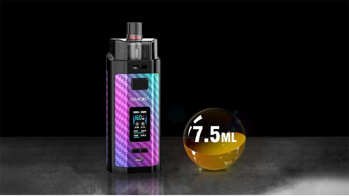 SMOK RPM160 18650 160W Pod System Starter Kit With 7.5ML Refillable Pod (5453157957781)